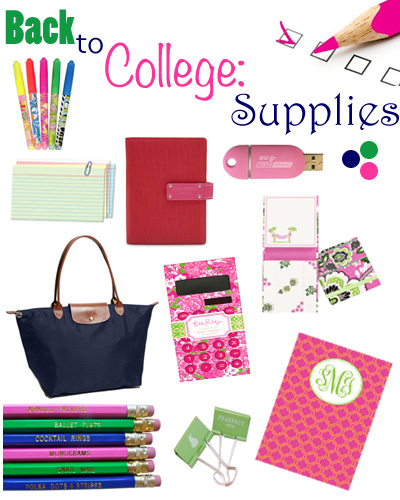 School supplies for college?