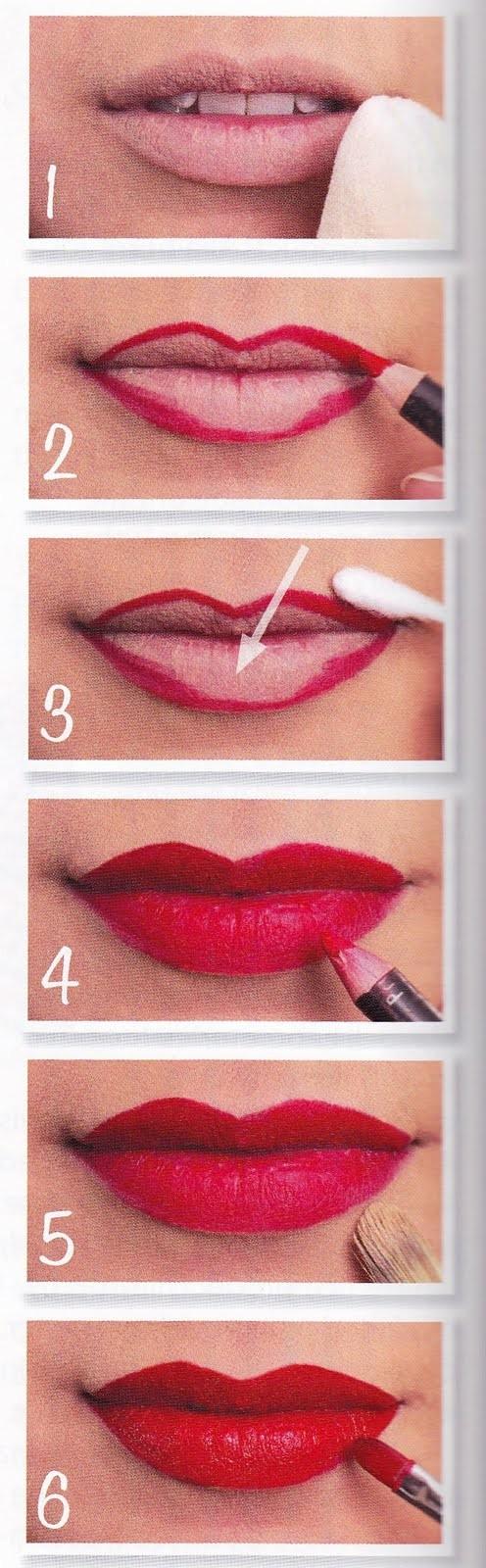 Как сделать губы красными без помады