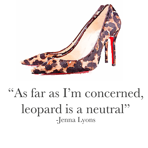 Leopard is a Neutral (Jenna Lyons)
