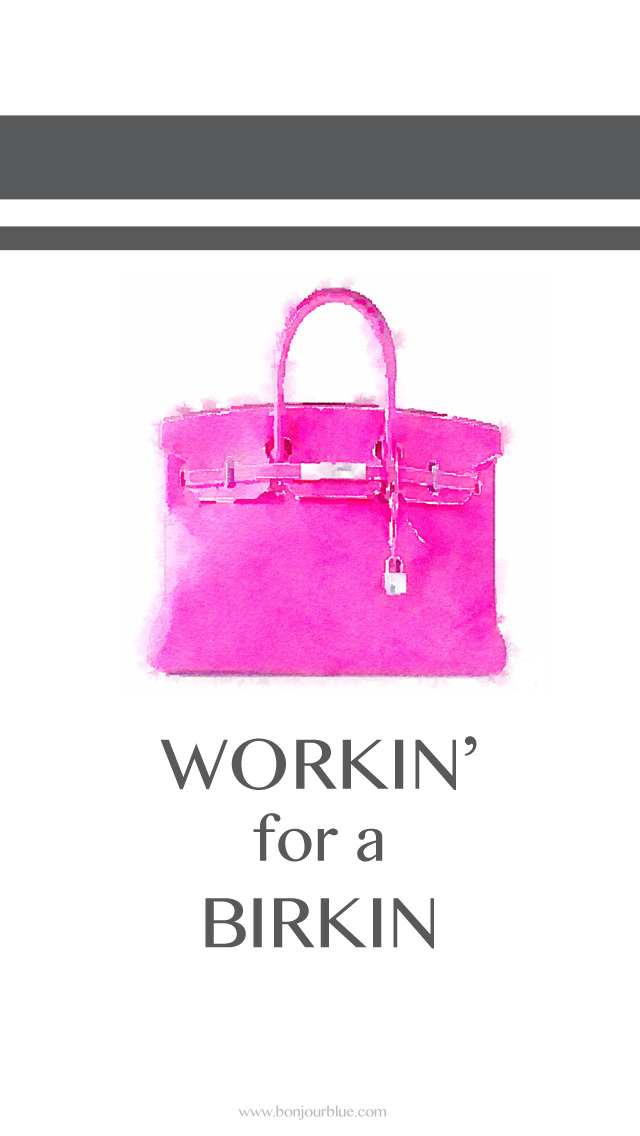 Working for a Birkin iPhone Background
