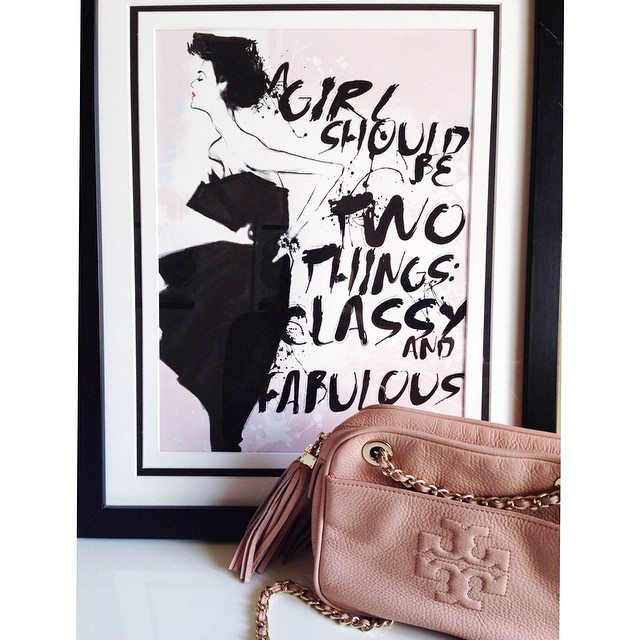 Bonjour Blue- A girl should be two things classy and fabulous