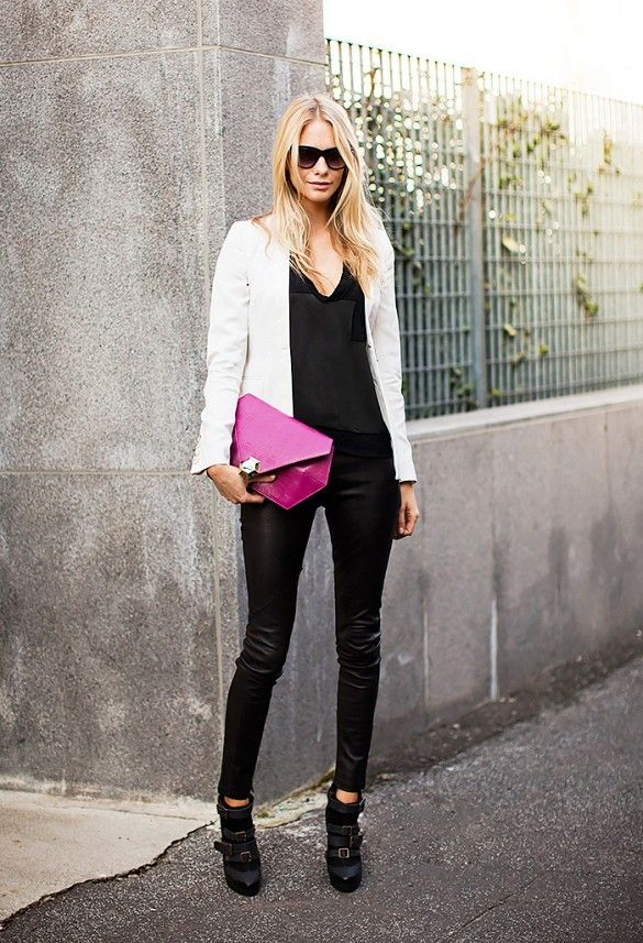 Leather Pants with a Pop