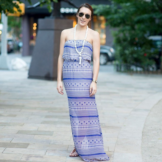 Did you catch this geometric maxi on Bonjour Blue yesterday?…