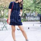 Blue Suede Dress