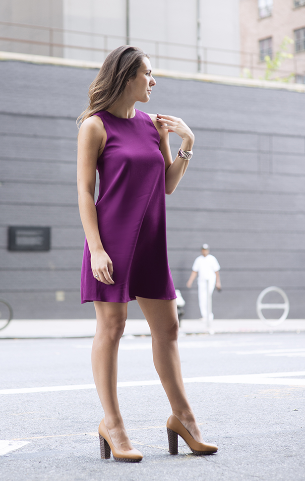 Shoes of Prey and Burgandy Dress