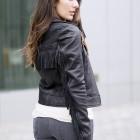 Fringe Leather Jacket