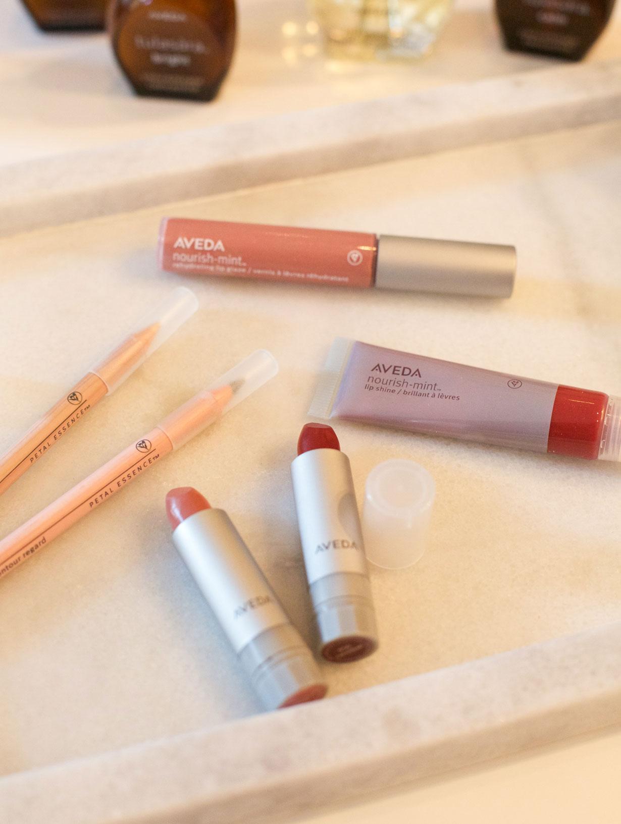 aveda-nourish-mint-lip-gloss-and-lipstick