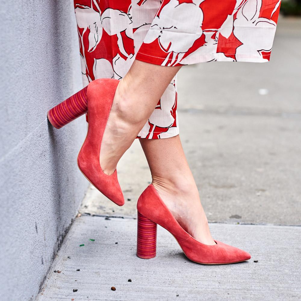 Samantha Metll of Bonjour Blue wearing Pour la Victorie shoes
