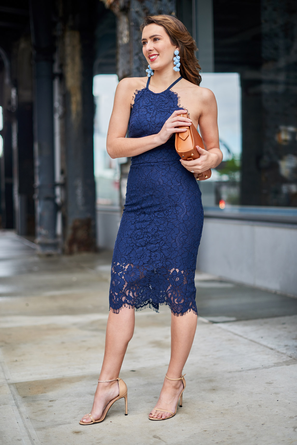 Navy cocktail dress what shoes