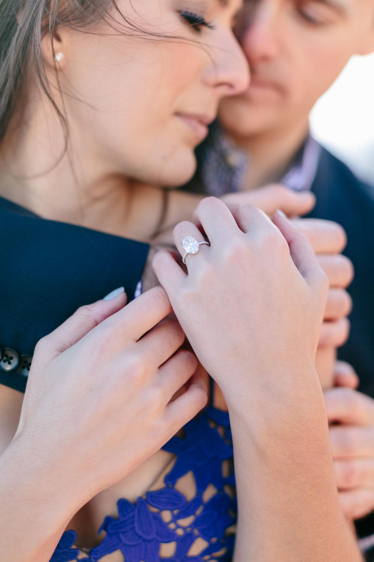 Samantha Metell of Bonjour Blue Diamond Engagement Ring