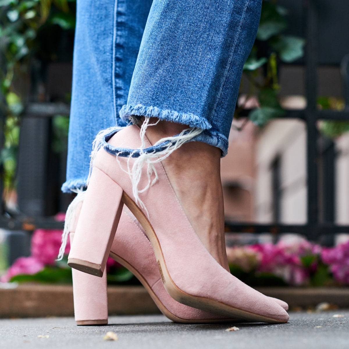 Samantha Metell of Bonjour Blue wearing Pour La Victoire Shoes