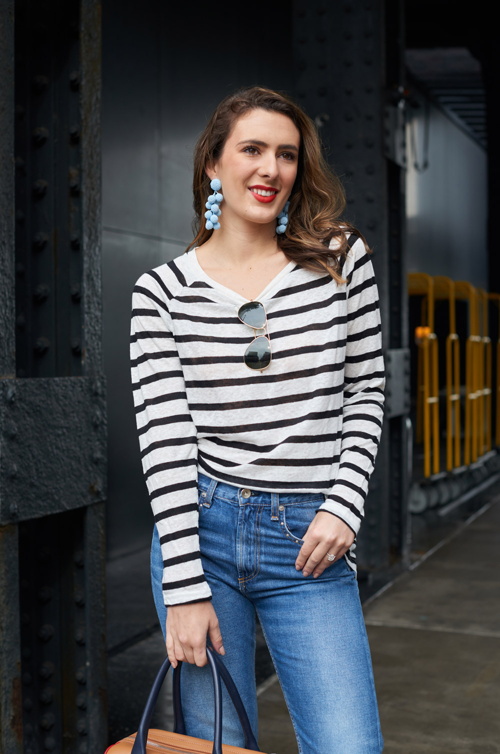 new york style blogger samantha metell of bonjour blue