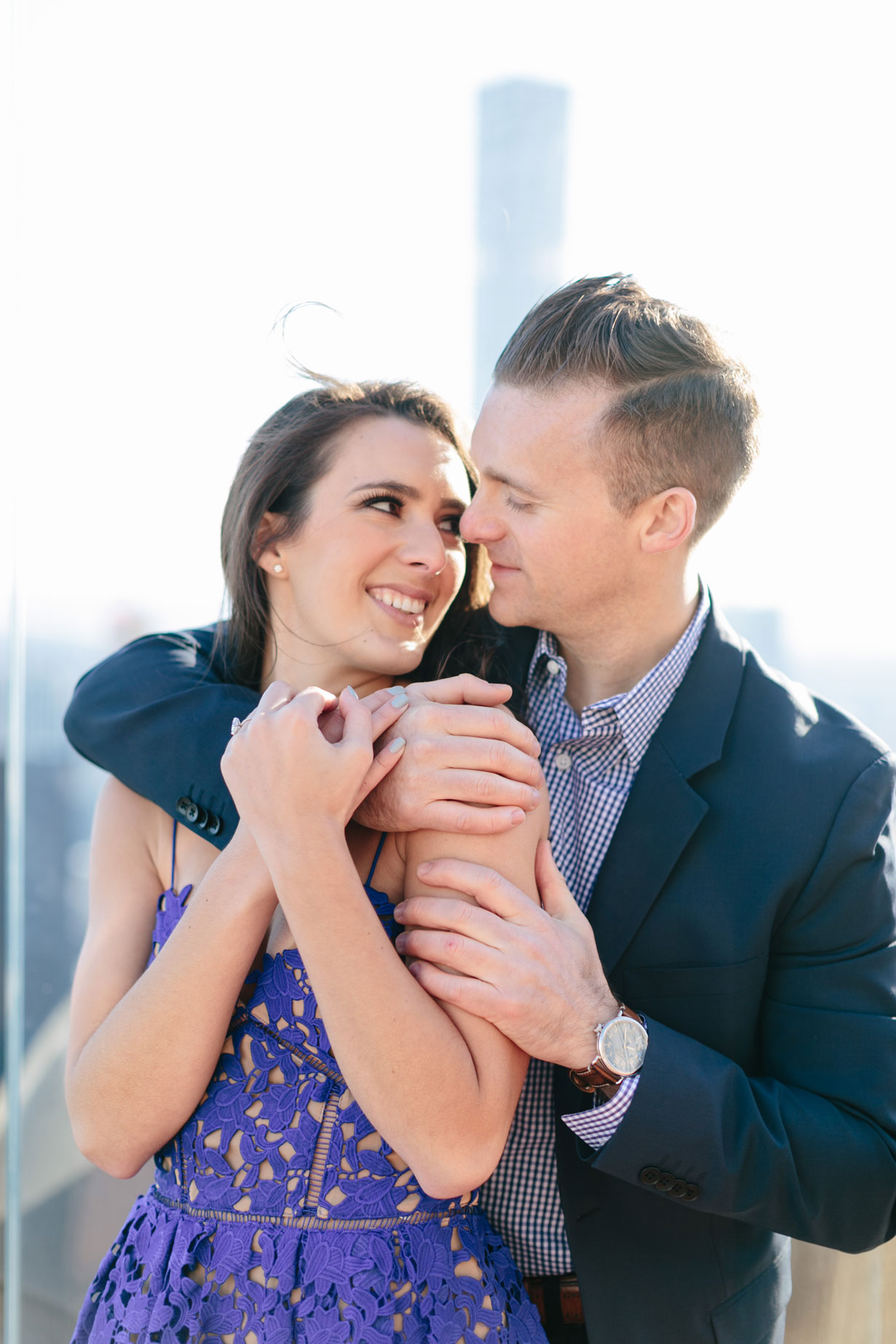 Samantha Metell of Bonjour Blue New York Iconic Engagement Photos