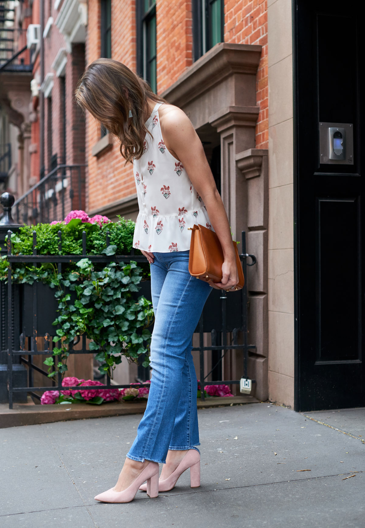 Samantha Metell of Bonjour Blue wearing Mother Denim and A.L.C.