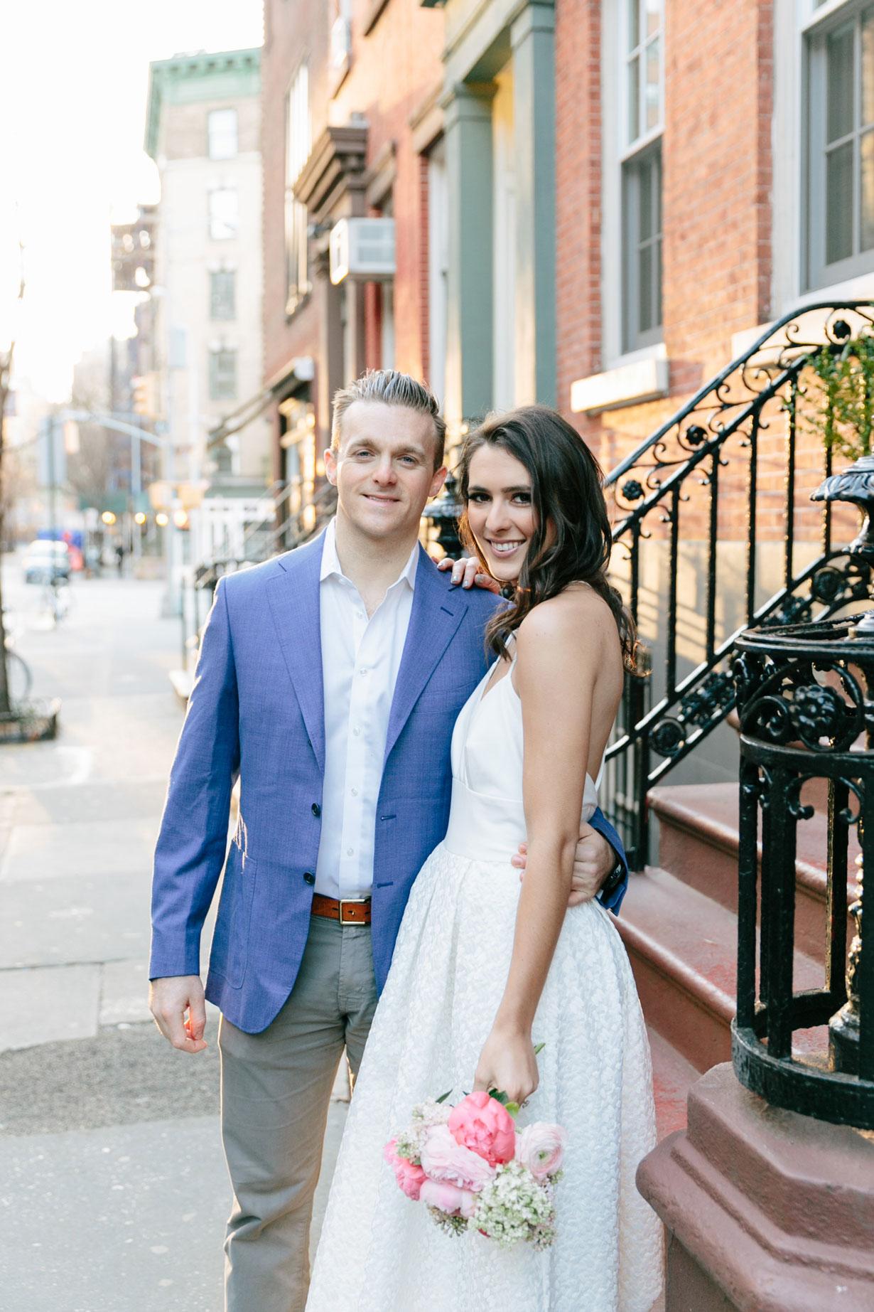 Samantha Metell of Bonjour Blue West Village Engagement Photos