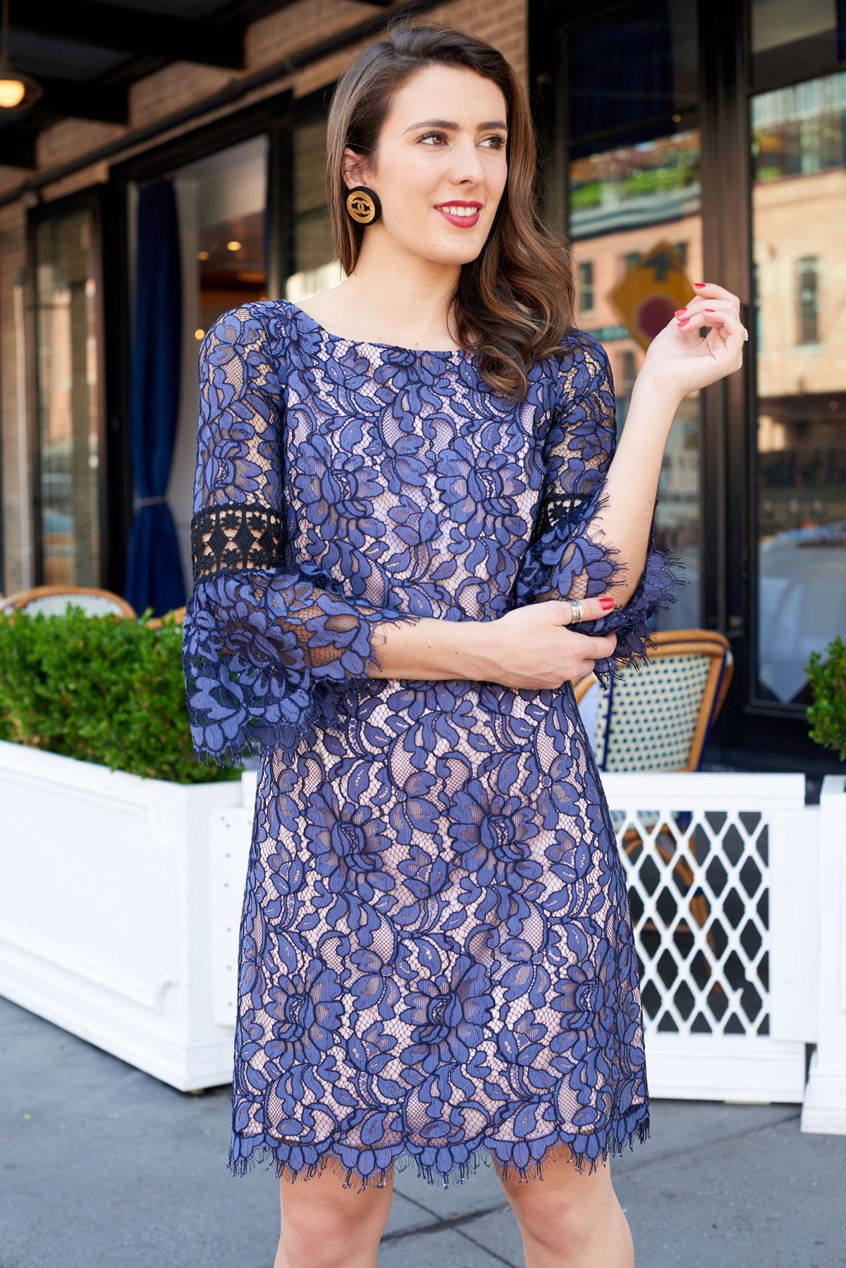 Samantha Metell of Bonjour Blue wearing vintage Chanel