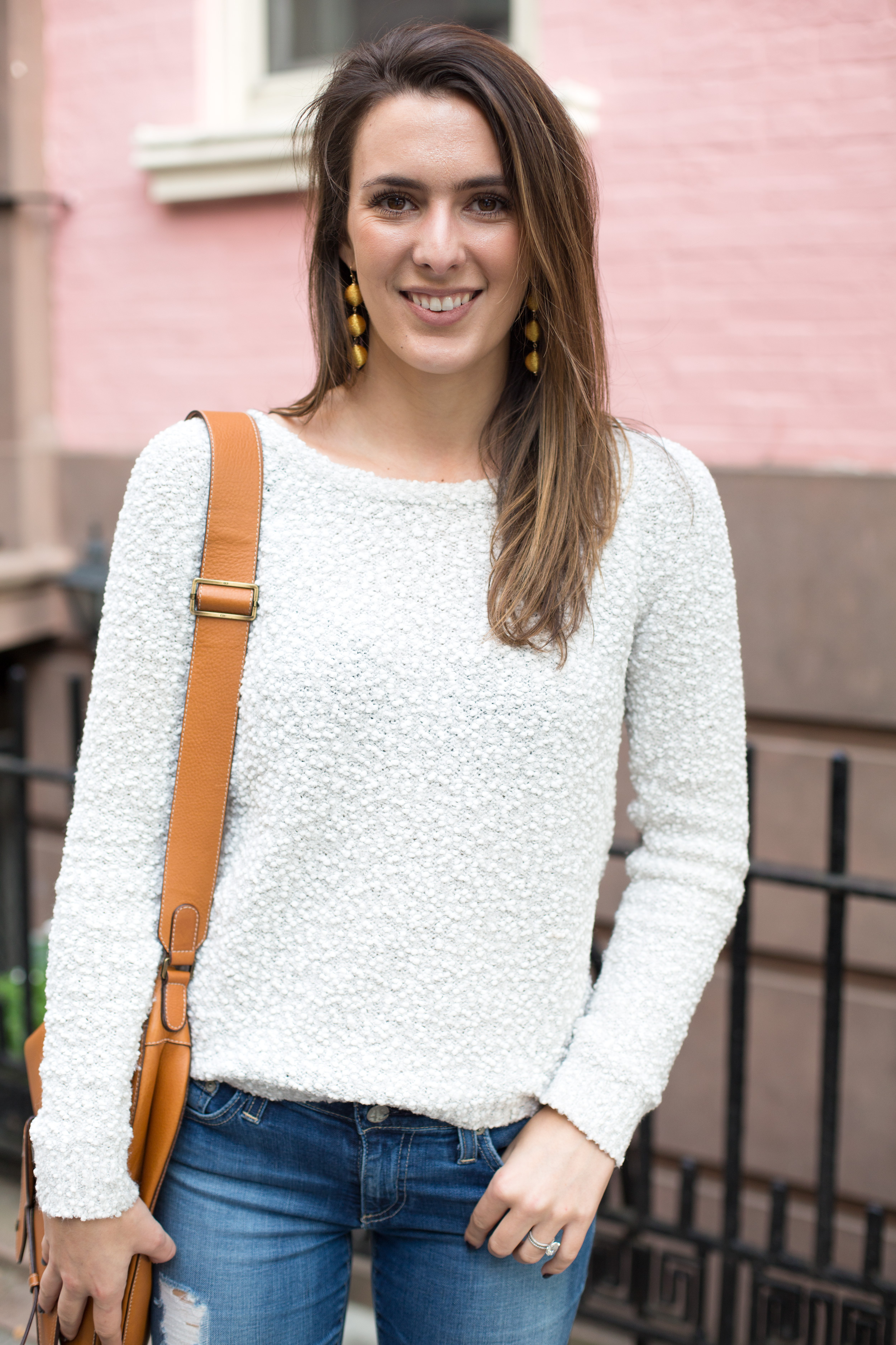 Style Blogger and Photographer Samantha Metell wearing a cozy weekend sweater by Lilla P