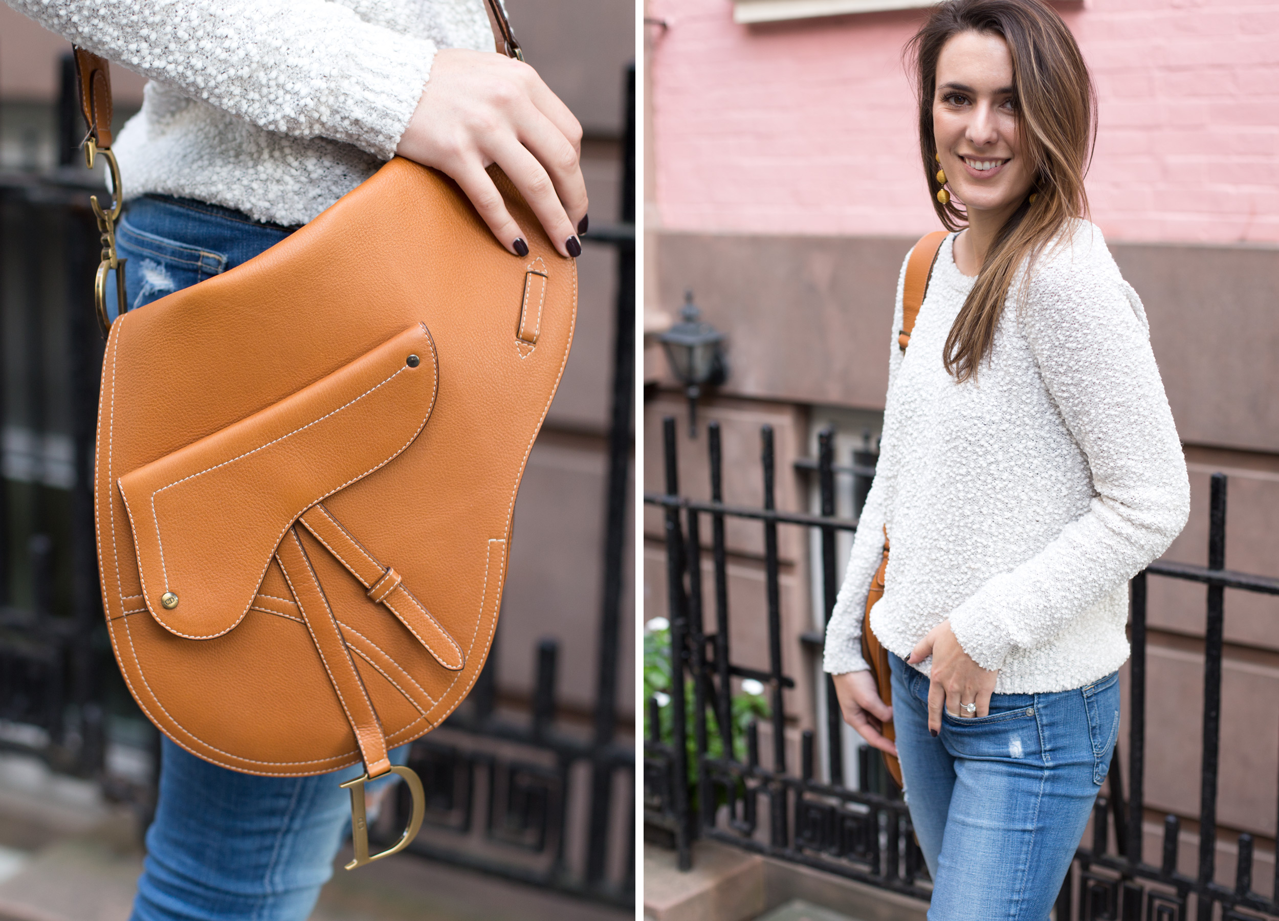 Style Blogger and Photographer Samantha Metell wearing a Dior Saddle Bag, Lilla P and Stuart Weitzman