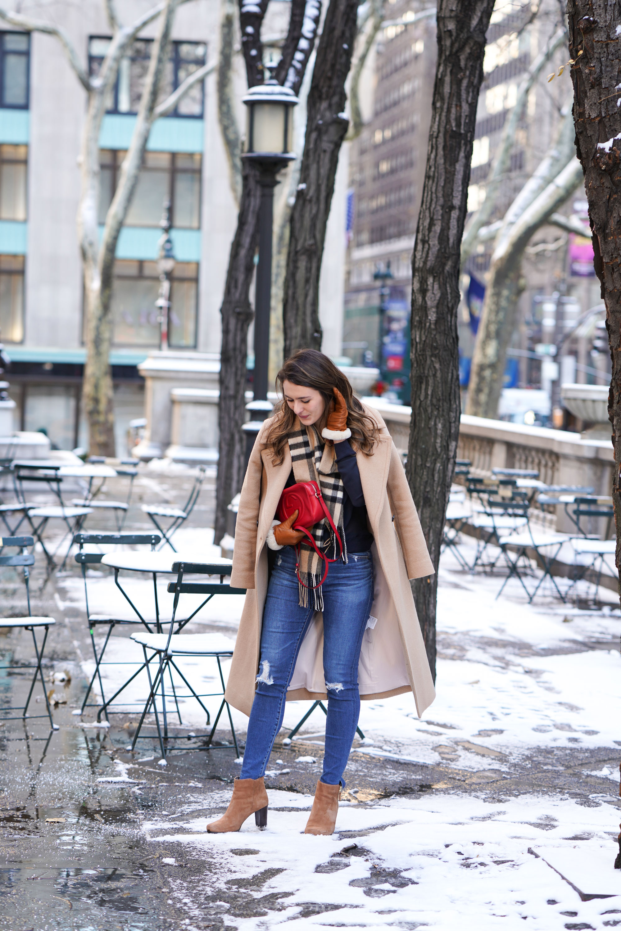 Samantha Metell of Bonjour Blue wearing Club Monaco and Rockport