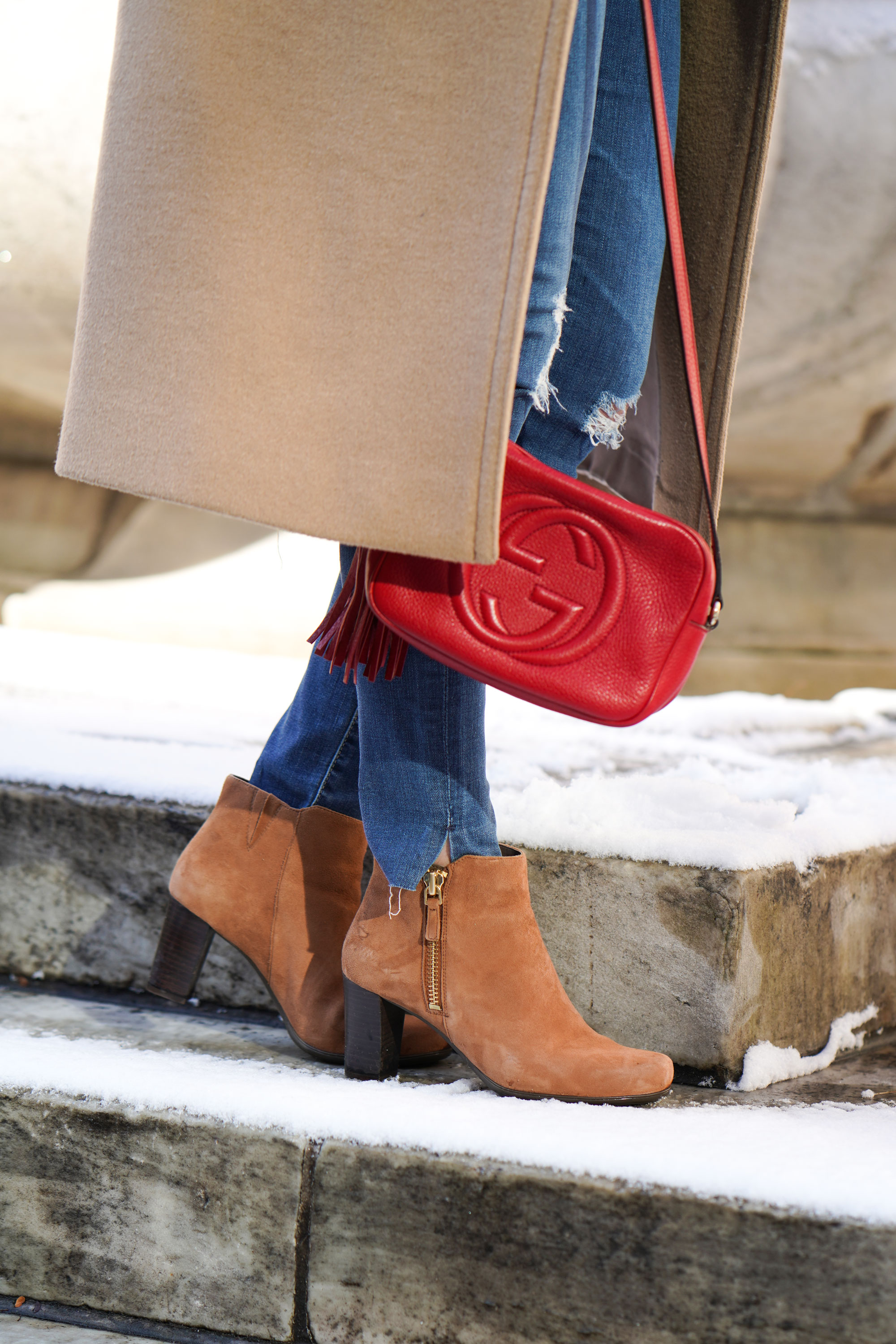 Samantha Metell of Bonjour Blue wearing Lockport Boots